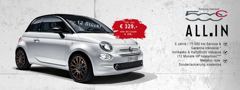 Fiat 500C Edizione Damisch ALL.IN